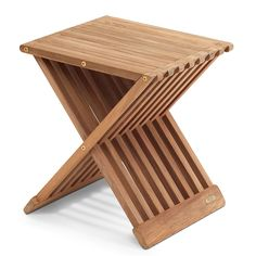 Fionia Folding Stool Designed by Jens Quistgaard for Skagerak. Available at the Dwell Store: store.dwell.com