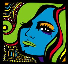 Love the colors! pop art portrait idea