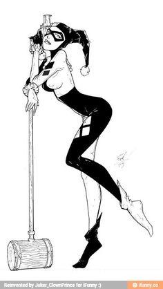 Harley Quinn by johnni-k draw Harley Tattoos, Harley Quinn Tattoo, Harley Quinn Drawing, Joker And Harley Quinn, Tatuaje Harley Quinn, Transférer Des Photos, Super Heroine, Comic Tattoo, Gotham Girls