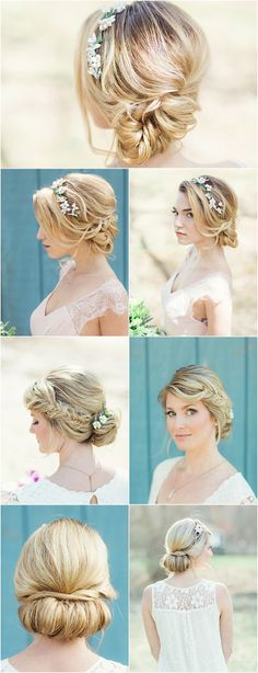 Popular wedding hairstyles. Add a bohemian detail with flowers in your hair  Flower Power: Classic Floral Wedding Hairstyles by Jackie Schneider
