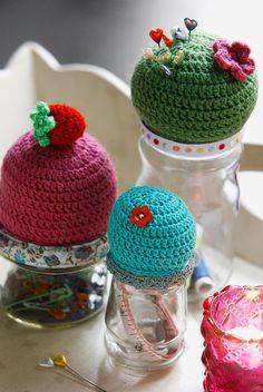 pincushion storage jars ... purposeful and beautiful!