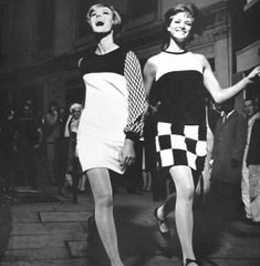 Early 1960s fashion design was noteworthy for its simple geometric shapes and op art inspired textiles       ShopCurious - Curious Trends