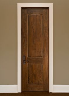 Classic Walnut Solid Wood Front Entry Door - Single - DBI-701B
