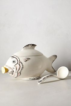 I saw this fish jar at Anthropologie and gasped. I have never seen anything so beautiful! So much better in real life! (Ceramic Fish Tureen)