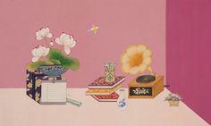 HANA SEO painting & illustration Korean Art, Asian Art, Korean Painting, Japan Illustration, Chinese Art, Oriental, Doodles, Illustrations, Tattoo