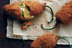 Jalapeno Poppers, recipe from Gourmet Magazine. Jalapeno Poppers, Jalapeno Popper Recipes, Spicy Recipes, Mexican Food Recipes, Appetizer Recipes, Cooking Recipes, Fun Appetizers, Delicious Recipes, Easy Recipes