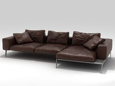 Corner sectional upholstered leather sofa Lifesteel Collection by FLEXFORM Corner Sectional, Corner Sofa, Sofa Chair, Couch, Leather Sectional Sofas, Brown Sofa, Bedroom Colors, Sofa Design, Contemporary Furniture