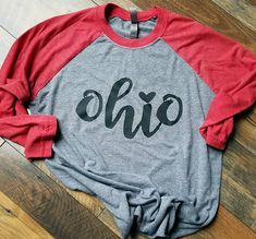 hot sale online 7d688 81964 Ohio Shirt - Ohio State Shirt - Ohio Heart Shirt - State Shirt - Football  Shirt - Woman s Clothing - Love Ohio Shirt