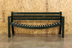 It is a bench with rollers so if you sit on it with another person, you will be pushed to the middle!