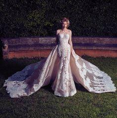 2017 Chegada Nova Champagne Casamento Vestidos de Renda Apliques Strapless Backless Vestido de Noiva Com Trem Destacável vestido de noiva em Vestidos de casamento de Casamentos & Eventos no AliExpress.com | Alibaba Group