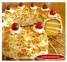 Frankfurter Kranz glutenfrei! Köstlicher Rührteig mit Buttercreme und Krokant! www.rezepte-glutenfrei.de #sweetmasterpieces