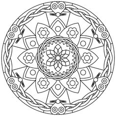 Printable Mandalas - free printable mandalas suitable for young and old. | Printmandala