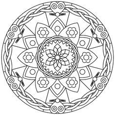 Printable Mandalas - free printable mandalas suitable for young and old. | Printmandala