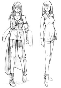 Week 8 - Final Fantasy VIII - Concept Art Mon - Rinoa Heartilly