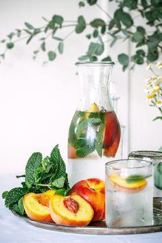 Peach Mint Flavoured Water  Gabriel Cabrera | The Artful Desperado