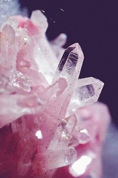 Pink crystals - so pretty...