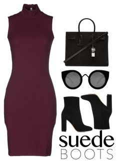 """""""Per-suede-sion"""" by photogenik on Polyvore featuring Acne Studios, Gianvito Rossi, Yves Saint Laurent and Quay"""