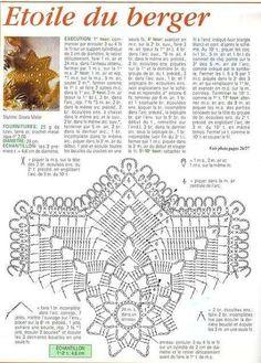 preporiamoci v novém roce! Free Crochet Doily Patterns, Crochet Doily Diagram, Beading Patterns Free, Tatting Patterns, Filet Crochet, Crochet Motif, Crochet Dollies, Crochet Stars, Thread Crochet