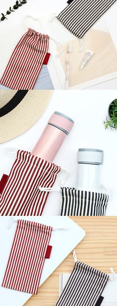 The Small Slim Stripe Drawstring Pouch is a super handy pouch for carrying my goods! It looks absolutely adorable with lovely stripe drawn horizontally, and the long cylindrical shape can help to carry various items at once! I can use it to carry my stationary, my hobby goods, or even to cover a small water bottle! It's great for keeping things clean inside my pouch. Drawstring Pouch, Pen Holders, Stationary, I Am Awesome, Water Bottle, Slim, Shape, Cover, Water Bottles