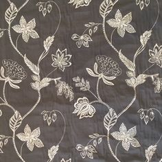 Fabric Houses, Cotton Viscose, Mauve, Chair, Floral, Flowers, Stool, Flower, Chairs