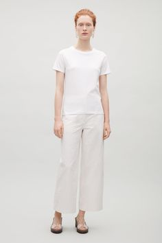COS image 12 of Relaxed t-shirt in White