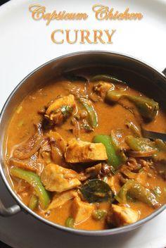 YUMMY TUMMY: Chicken Capsicum Curry Recipe