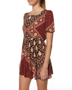 SURFSTITCH - WOMENS - DRESSES - CASUAL DRESSES - MINKPINK GYPSET SQUARE NECK DRESS - MULTI