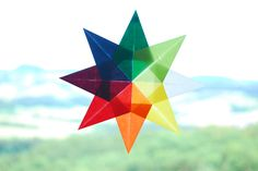 Waldorf Window Star Babyccino Kids: Daily tips, Children's products, Craft ideas, Recipes & Felt Crafts, Easy Crafts, Arts And Crafts, Paper Crafts, Kids Crafts, Useful Origami, Origami Easy, Christmas Origami, Christmas Crafts