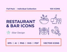 Food and drinks Line Icons Set. This set includes icons of cocktails, alcohol drinks, coffee, tea, breakfast, dinner, lunch food, croissants, waffles, macaroons, candy, ice cream, wedding cake, birthday cake, donuts, eggs with bacon, bread, sandwiches, burgers, french fries, hot dog, soup, wok, sushi, dumplings, seafood, fish, steak, meat, chicken, pizza, pasta, lasagna, fruits & vegetables, cheese & honey, grill, menu, chef's hat, apron, corkscrew, cutlery.