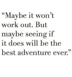 Because maybe it's not about the destination, maybe it's the journey that counts..