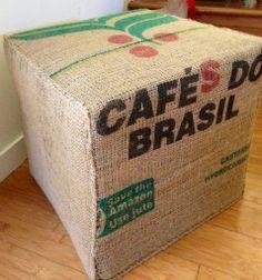 Hessian Coffee Bag Ottoman..