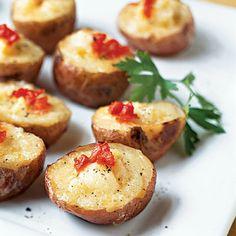 Smoked Salmon and Cheese Mini Twice-Baked Potatoes — Yum!