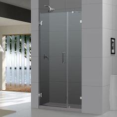 dreamline unidoor lux 37inch frameless hinged shower door by dreamline