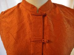 Silk Sleeveless Top Mandarin Collar Silk Blouse by VintageAndGems, $23.00