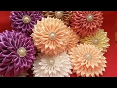 Цветы канзаши новый сбор✔ Marine DIY✔ - YouTube