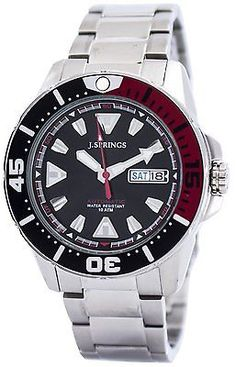Springs by Seiko Sports Automatic Black Dial Mens Watch Mens Watches For Sale, Seiko Diver, Affordable Watches, 100m, Time Capsule, Casio Watch, Sports, Accessories, Sport