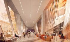 Snøhetta's design for a community library in Queens, New York.