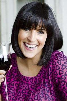Anna Richardson - love her hair Cut And Style, Cut And Color, Anna Richardson, Bob With Fringe, Fringe Bangs, Celebrity Skin, Tv Presenters, Long Bob, Silver Hair