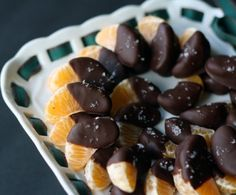 Chocolate Dipped Clementines with Sea Salt - Sea Salt recipes curated by SavingStar Grocery Coupons. Save money on your groceries at SavingStar.com