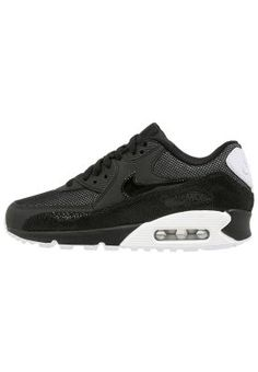 AIR MAX 90 PREMIUM - Matalavartiset tennarit - black/white/metallic silver