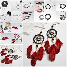 DIY Dream Catcher Earrings https://www.facebook.com/icreativeideas