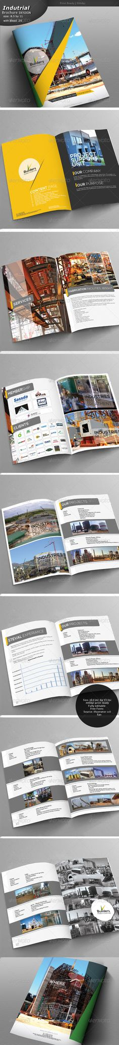Construction Brochure #GraphicRiver Construction Brochure Design Fully editable in illustrator cs5. Source: Ai and Eps Size: 8.5 by 11 Bleed: .25 Images not included Pages: 14 Fonts Aller .fontsquirrel /fonts/Aller Nexa fontfabric /nexa-free-font/ Created: 31May13 GraphicsFilesIncluded: VectorEPS #AIIllustrator Layered: No MinimumAdobeCSVersion: CS5 PrintDimensions: 8.5x11 Tags: architectbrochure #buildingbrochure #constructionbrochure #industrialbrochure