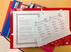 sight word folders!