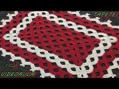 Tapete em fio conduzido em diagonal -passo a passo - Pink Artes Croche by Rosana Recchia - YouTube Crochet Placemats, Crochet Table Runner, Crochet Doilies, Crochet Flowers, Crochet Bedspread Pattern, Crochet Blanket Patterns, Diy Crafts Crochet, Crochet Flower Tutorial, Crafts With Pictures