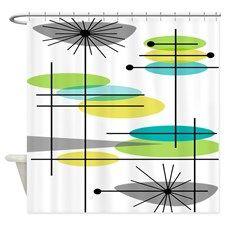 Mid Century Modern 44 Shower Curtain