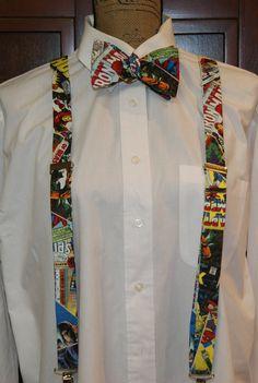 Marvel Suspenders by DesignPlusMe on Etsy Marvel Wedding Theme, Avengers Wedding, Comic Book Wedding, Geek Wedding, Wedding Ties, Dream Wedding, Our Wedding, Iron Man, Prom Themes