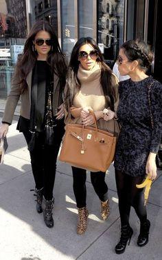 Kim Kardashian and a tan Birkin