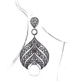 Sketch of an elegant new couture design we're looking to debut soon! Sketch of an elegant new couture design we're looking to debut soon! Jewelry Model, Jewelry Art, Jewlery, Fashion Jewelry, Jewelry Design Drawing, Jewelry Illustration, Jewellery Sketches, Tiffany Jewelry, Schmuck Design