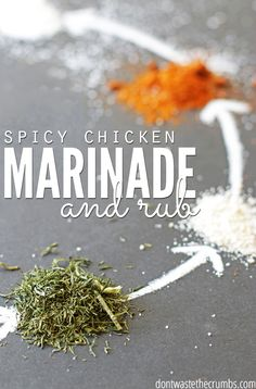 8 Ingredient spicy chicken marinade & rub; quick and easy recipe using common household spices.The perfect spice combination to make your meat perfect! ::Dontwastethecrumbs.com