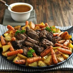Perfect Pot Roast with Best-Ever Pot Roast Gravy is simply the BEST pot roast and pot roast gravy - ever! THIS is the pot roast & gravy dreams are made of ( added can tomato paste, mushrooms) Pot Roast Recipes, Crockpot Recipes, Dinner Recipes, Cooking Recipes, Yummy Recipes, Dinner Ideas, Pot Roast With Beer Recipe, Best Pot Roast Recipe Ever, Paleo Recipes
